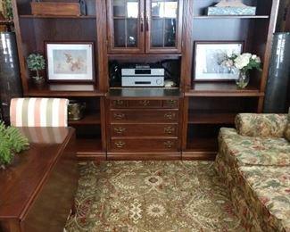 Handmade Solid Cherry-Set of 2 Bookshelves and Standing Secretary