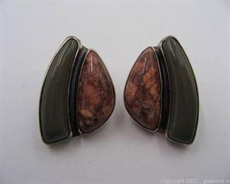 Jay King Designer Sterling Silver Jasper Earrings