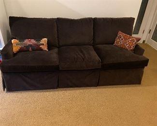 Lovely brown velvet sleeper sofa, In like new condition.  Queen mattress $160