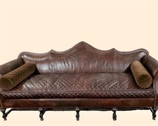 $3500.00 - Old Hickory Tannery Custom made leather and embossed alligator/crocodile leather. One of a kind.