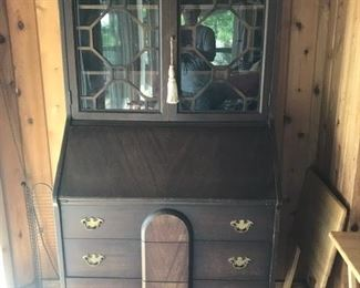 antique secretary with claw foot
