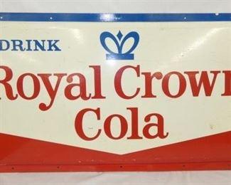 1939 EMB. ROYAL CROWN COLA SIGN