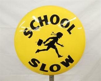 24IN PORC. COKE SCHOOL CROSSING SIGN