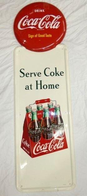 15X54 1947 COKE 6PACK PILLAR SIGN
