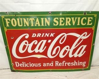60X42 PORC. COKE FOUNTAIN SERVICE SIGN