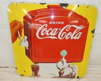 27X25 PORC. COKE DISPENSER SIGN