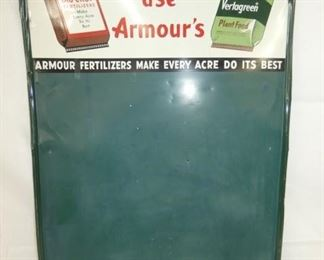 24X36 MORE FARMERS ARMOURS MENU SIGN