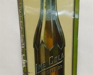 10X28 EMB. LIME COLA VERTICAL SIGN