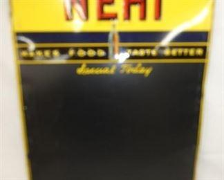 20X28 EMB. NEHI MENU BOARD