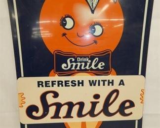 20X27 SMILE DRINK SIGN W/ ORANGE