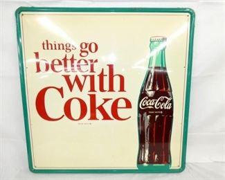 35X35 OLD STOCK BETTER W/ COKE SIGN
