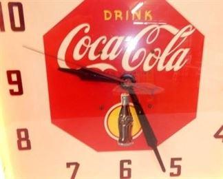 VIEW 4 15X15 COKE NEON CLOCK