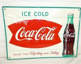 28X20 COKE FISHTAIL SIGN