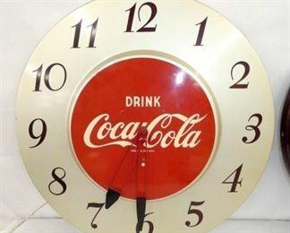 18IN SILVER COCA COLA CLOCK