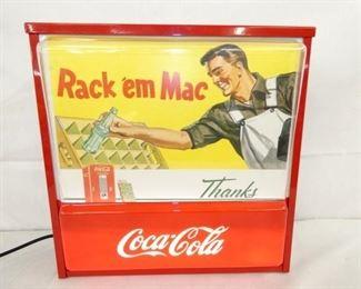 16X16 RACK EM MAC COKE LIGHTUP SIGN