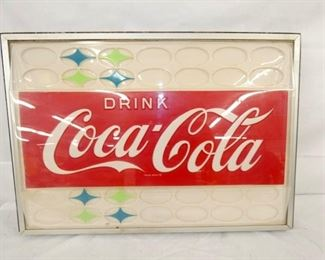 23X33 PLASTIC DRINK COKE INCERT SIGN