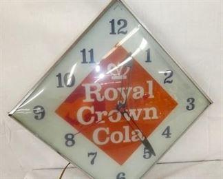 16IN ROYAL CROWN COLA DIAMOND CLOCK
