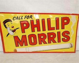 27X14 EMB. PHILIP MORRIS TOBACCO SIGN