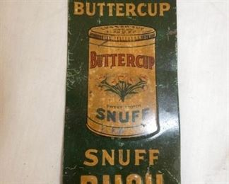 4X9 BUTTERCUP SNUFF PUSH SIGN