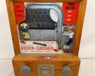 14X17 1CENT KICKER/CATCHER COIN OP GAME
