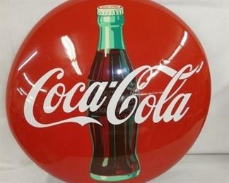 24IN COCA COLA PAINTED BUTTON