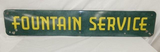 63X11 PORC. FOUNTAIN SERVICE SIGN