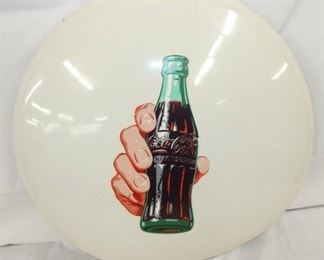24IN WHITE PAINTED COKE BUTTON