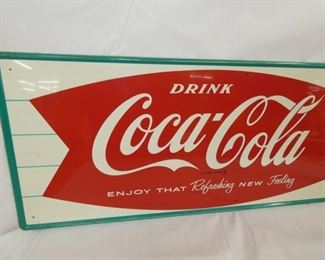 VIEW 3 32X12 OLD STOCK 1927 COKE SIGN