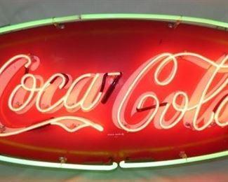 42X19 COKE FISHTAIL 2 COLOR NEON SIGN