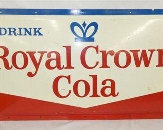 52X26 EMB. ROYAL CROWN COLA 1939 SIGN