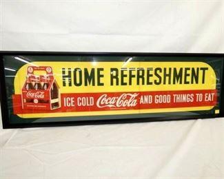 56X17 COKE REFRESHMENT PAPER AD