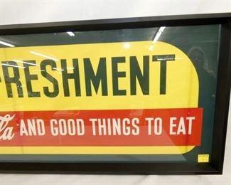 VIEW 4 56X17 COKE REFRESHMENT PAPER AD