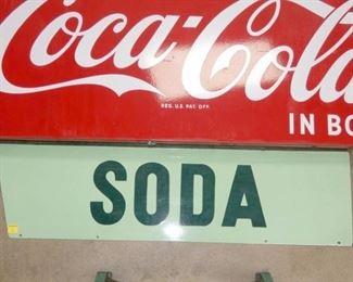VIEW 4 3PC. COCA COLA GRILL SIGN