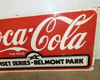 VIEW 3 RIGHTSIDE 60X30 WOODEN COKE SIGN