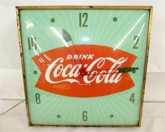 16X16 COCA COLA FISHTAIL CLOCK