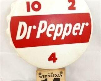 11X17 DR. PEPPER CAP CALENDER BUTTON