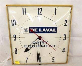 15IN DE LAVAL DAIRY EQUIPMENT CLOCK