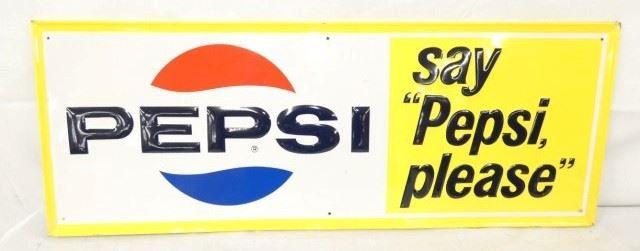 31X12 EMB. SAY PEPSI PLEASE SIGN