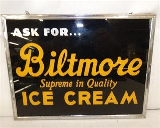 12X9 GLASS ASK FOR BILTMORE ICE CREAM