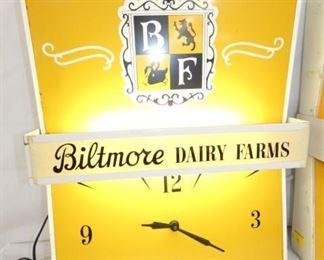 15X19 LIGHTED BILTMORE DAIRY CLOCK