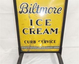 20X32 BILTMORE ICE CREAM SIDEWALK SIGN