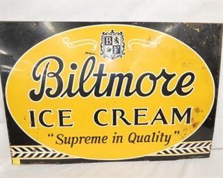 36X24 1951 BILTMORE ICE CREAM SIGN