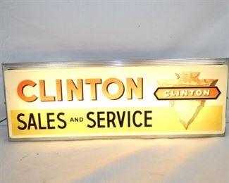 26X9 CLINTON SERVICE LIGHTUP SIGN