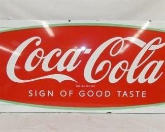 24X68 COCA COLA FISHTAIL SLED SIGN