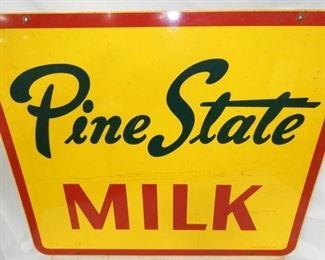 VIEW 4 36X30 1963 PINE STATE MILK SIGN