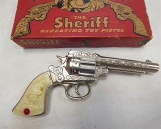 VIEW 3 THE SHERIFF STEVENS PISTOL W/ BOX