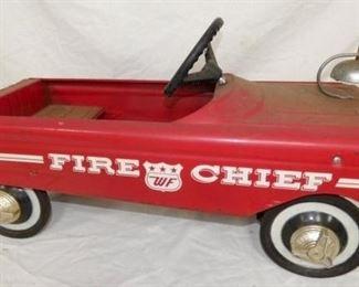 ORIG. WF FIRE CHIEF PEDAL CAR