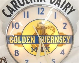 15IN GOLDEN GUERNSEY CLOCK