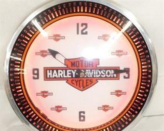 21IN Harley Davidson SPINNER CLOCK NEON
