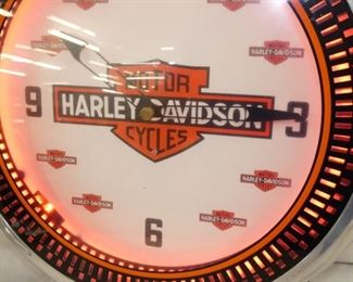 VIEW 4 21IN HARLEY NEON CLOCK